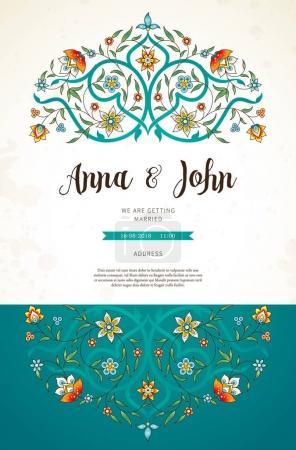 vintage wedding invitation template