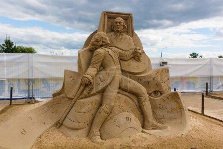 Exhibition of sand sculptures.