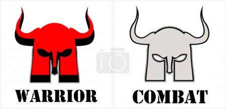 warrior, warrior head symbol