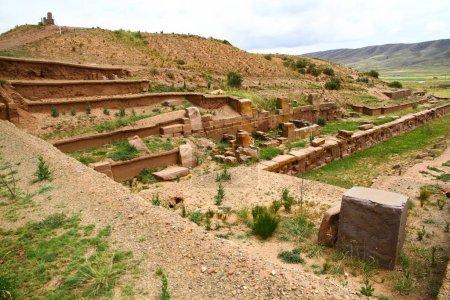 Photo pour Site archéologique de Tiwanaku (Bolivie). - image libre de droit