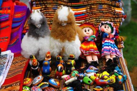Photo pour Souvenirs textiles boliviens, Isla del Sol, Bolivie - image libre de droit