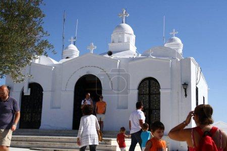 Photo pour Eglise Saint Isidore au sommet du Mont Lycabettus, Athènes, Grèce - image libre de droit
