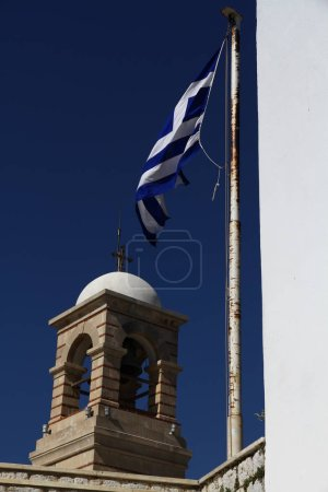 Photo for The bell tower of Saint Isidore Church on the top of Mount Lycabettus, Athens, Greece - Royalty Free Image