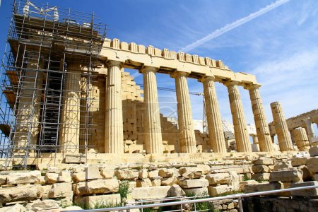 Photo for Architectural details of Temple of Hephaestus, Athens, Greece - Royalty Free Image