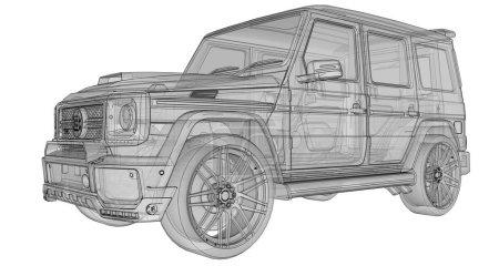 Raster threedimensional illustration of the