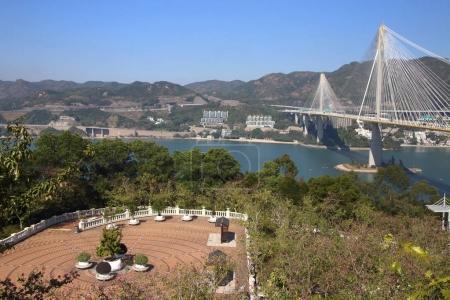 panoramic view of Lantau Link garden in Hong Kong