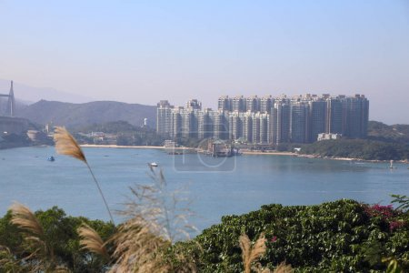 sea and island landscape viewed from Tsing Ma viewpoint, Hong Kong