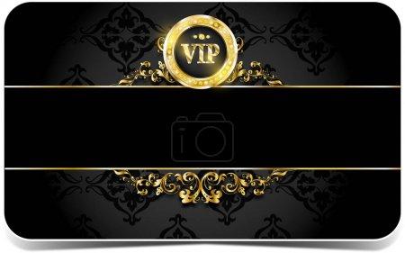 Premium card with golden elements