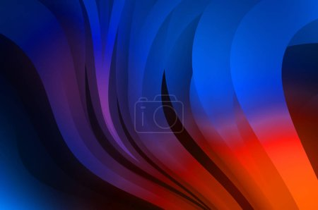 Photo pour Abstract background with colorful gradient. Vibrant graphic wallpaper with stripes design. Fluid 2D illustration of modern movement. - image libre de droit