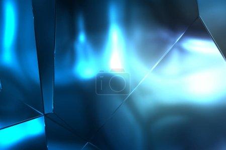 Foto de Resumen de antecedentes. Lujoso Patrón Geométrico de Paneles Metálicos. Glamour Fashion Backdrop. 3d ilustración. Reflexión y brillante papel tapiz de lujo. Luminosa, colorida y vibrante pared de textura. - Imagen libre de derechos