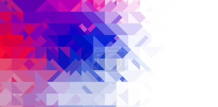 Photo for Intersecting shapes design on white background. Abstract minimalistic wallpaper. Colorful geometric template. - Royalty Free Image