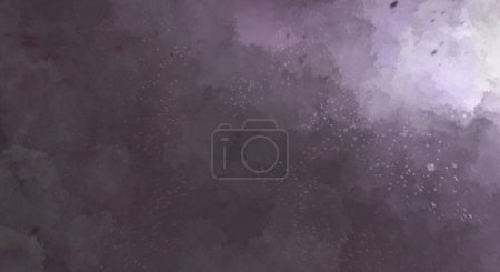 Photo for Watercolor painted background with blots and splatters. Brush stroked painting. 2D Illustration. - Royalty Free Image