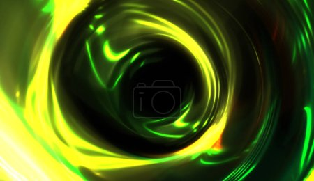 Foto de Encendido fondo de luces encendidas móviles. Vibrante plantilla de portal colorido para su diseño. Los rayos claros y las partículas brillantes en movimiento forman una forma de agujero gusano.. - Imagen libre de derechos