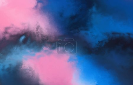 Photo for Watercolor painted background. Abstract Illustration wallpaper. Brush stroked painting. 2D Illustration. - Royalty Free Image
