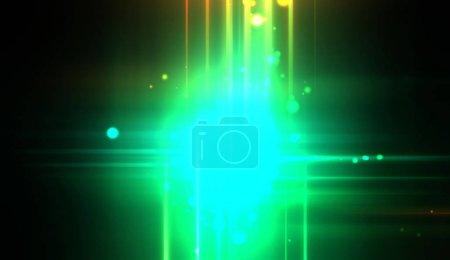 Cool background of vivid and vibrant light flares. Colorful glossy lights display with burst effect. Sparkling multicolored background.