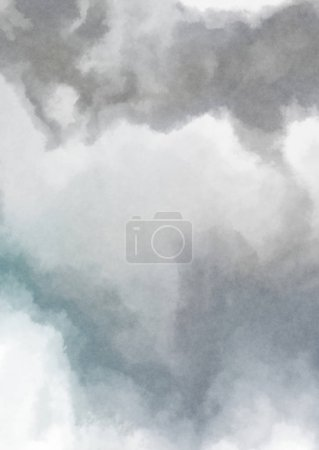 Photo pour Aquarelle colorée abstraite sur fond blanc. Art numérique peinture . - image libre de droit