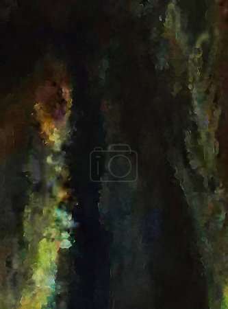 Photo for Modern art. Colorful contemporary artwork. Color strokes of paint. Brushstrokes on abstract background. Brush painting. - Royalty Free Image