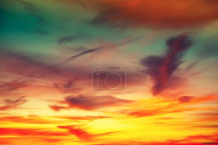 Colorful cloudy sky