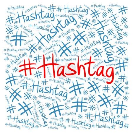 hashtag illustration konzept