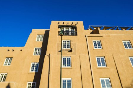 Photo for Beautiful adobe style architecture in Santa Fe, New Mexico. - Royalty Free Image
