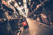 Blurred Interior of Modern Warehouse