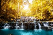 Sam Lan Waterfall is beautiful waterfall in tropical forest, Sar