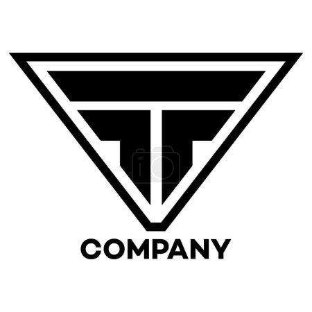 Illustration pour FT entreprise liée lettre logo - image libre de droit
