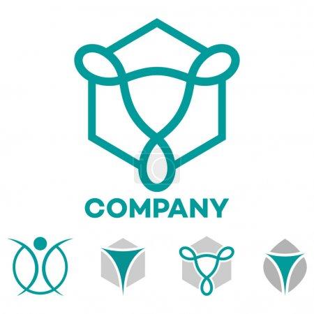Illustration for Gynecology logo. Vector illustration. - Royalty Free Image
