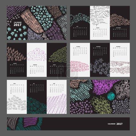 Creative calendar 2017 design template