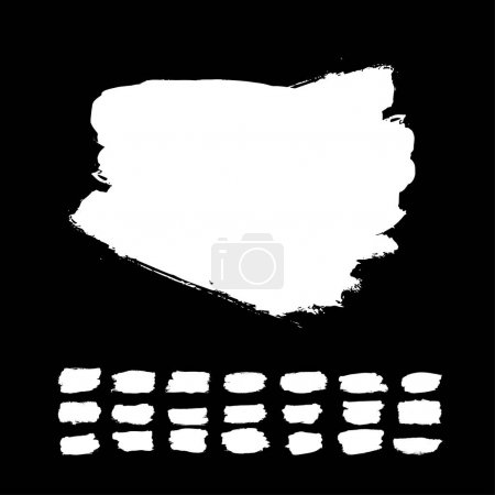 white brush strokes on black