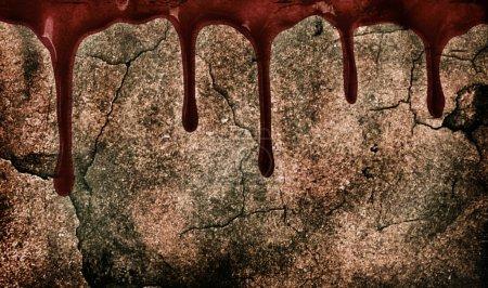 Photo pour Marques de sang sur la paroi du grunge - image libre de droit