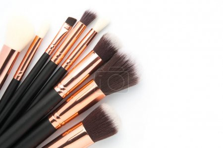 Various makeup brushes isolated