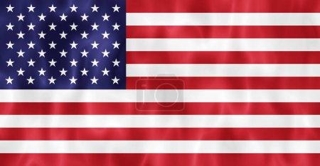 Photo pour Fond de drapeau ondulant Usa - image libre de droit