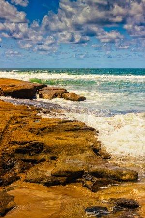 Waves Splashing On The Rocks