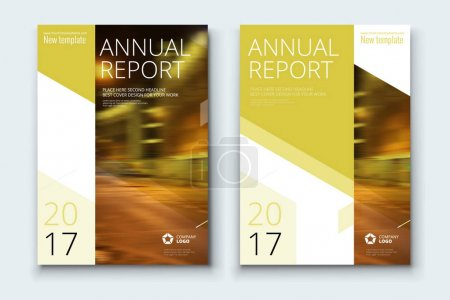 Corporate business annual report covers