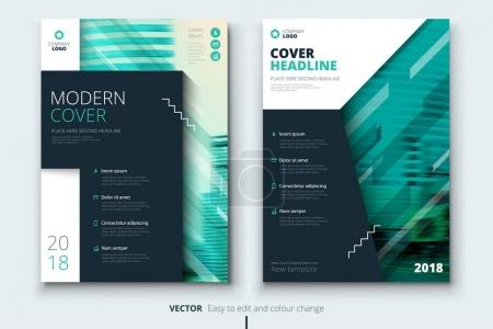 Corporate business annual report cover, brochure or flyer design. Leaflet presentation. Catalog with Abstract geometric background. Modern publication poster magazine, layout, template.