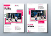 Flyer design Corporate business report cover