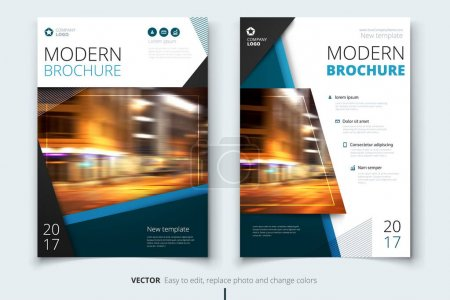 Illustration for Cover design for brochure, flyer, report, catalog, presentation, poster. Modern layout template in A4 size - Royalty Free Image