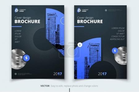 Brochure design. Corporate business report cover, brochure or fl