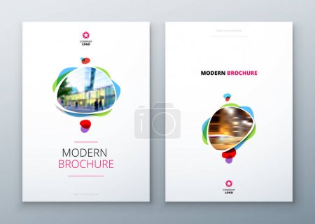 Brochures templates layout design