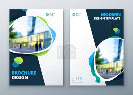 Illustration for Brochure template layout design. Bright color brochure, catalog, magazine or flyer mockup. - Royalty Free Image