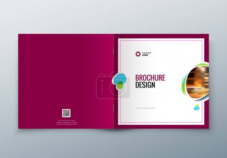 Square Brochure design. Corporate business template for rectangle brochure, report, catalog, magazine. Corporate Business Annual Report Cover, brochure or flyer design.