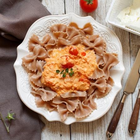 Wholegrain Pasta with stracchino cheese and fresh ...