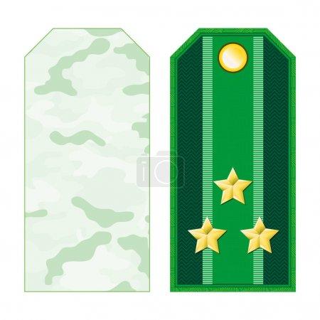 Green Military Shoulder Straps