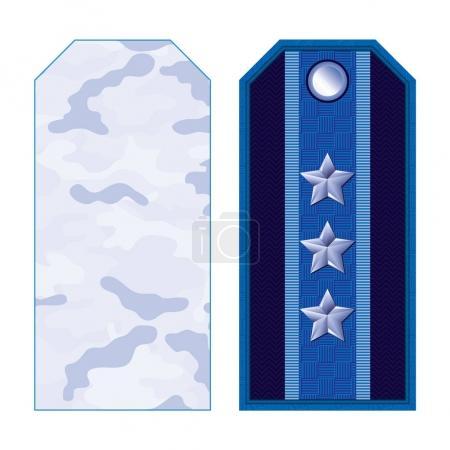 Blue Military Shoulder Straps