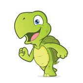 Smiling running turtle