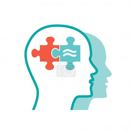 Photo pour Icône de psychologie plate pour votre conception conceptuelle - image libre de droit