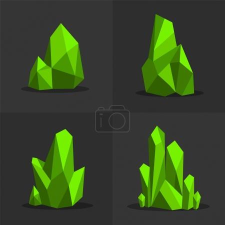 Photo pour Vert émeraude Coloré brillant vert clair cristaux de jade - image libre de droit