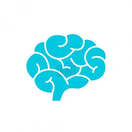 Photo pour Icône de cerveau vectoriel isolé sur blanc - image libre de droit