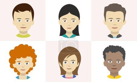 Photo pour Icônes de personnes, avatars dans le style plat - image libre de droit